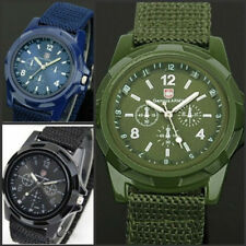 Men's Military Quartz Analog Wristwatches Fabric Sport waterproof Wrist Watches