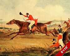 QUORN ENGLAND FOX HUNT HORSE EQUESTRIAN HUNTING ART PAINTING REAL CANVAS PRINT