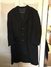 Winter Coat Mens sz 44 Charcoal Lambs Wool  Executive Collection Made In Italy