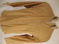 Ermenegildo Zegna Mens Orange Plaid Long Sleeve Cotton Shirt L Italy Made