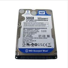 "Western Digital Scorpio Blue 500GB 5400RPM SATA 2.5"" (WD5000BPVT) HDD Hard Drive"