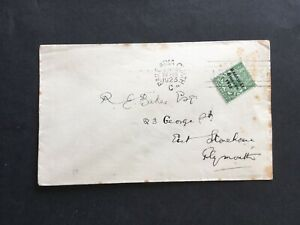 IRELAND 1923 COVER TO PLYMOUTH