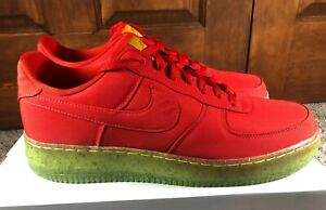 Nike By You ID Air Force 1 Red Green Grinch CW0400 991 Men's Size 12