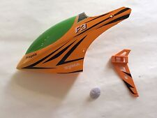Canopy+timone coda+tappo albero motore per elicottero Syma F3 giallo.