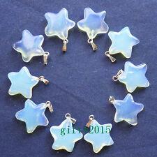 10pcs Gorgeous Opal Opalite Star Pendant Bead D1116022