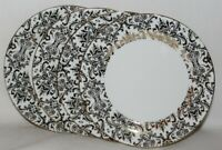 Ciroa Luxe Small Floral Swirls / Scroll Metallic Gold Salad Plates Set of 4 New