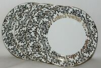 Ciroa Luxe Small Floral Swirls / Scroll Metallic Gold Dinner Plates Set of 4 New