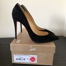 Christian Louboutin Pigalle Follies 100 Veau Black Suede Size 38 (U.S. 8)