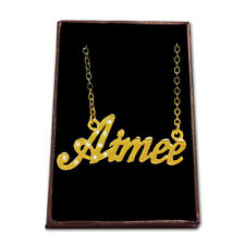 Gold Plated Name Necklace - AIMEE - Gift Ideas For Her - Birthday Designer