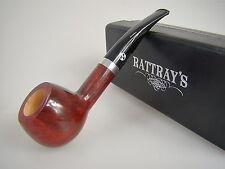 Rattray's Pfeife Red Lion Bordeaux Rot Glatt 39 9mm Filter #1816