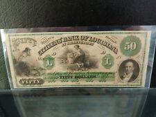 1860s $50 Citizens Bank Louisiana Gem Unc NICE