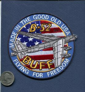 B-52 BUFF STRATOFORTRESS Strategic Air Command SAC USAF Boeing BS Squadron Patch