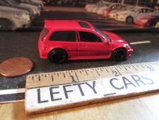 HOTWHEELS RED 1990 HONDA CIVIC EF Hatchback SCALE1:64 - LOOSE! RARE!