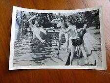 Lot19 - WW2 Original Photo SWIMMING POOL ARMY 1945 ASIA BURMA ?