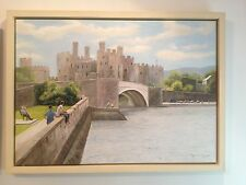 GORGEOUS LARGE ORIGINAL TONY WOODING OIL PAINTING OF CONWY CASTLE NORTH WALES