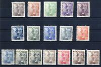 Sellos de España 1940-45 nº 919/935  General Franco Nuevos Stamps Spain