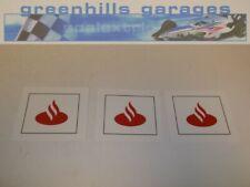 Greenhills Scalextric Slot Car 1.32 Scale Sponsor Stickers x3 - Santander - G768