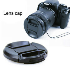 49mm Front Lens Cap Hood Cover Snap-on for Canon Sony Olympus Nikon Camera Black