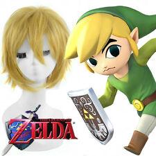 The Legend Of Zelda Link Cosplay Wig Short Blonde Yellow Hair Halloween Wigs#23