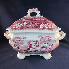 Spode China PINK TOWER Soup Tureen