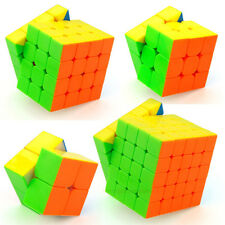 Moyu Speed Cube Bundle Mofangjiaoshi 2x2 3x3 4x4 5x5 Stickerless Magic Cube Set