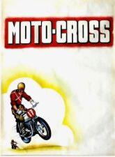 Original vintage poster MOTO CROSS RACING c.1950