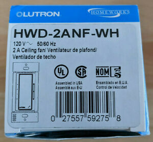 Lutron HWD-2ANF-WH 2A Fan Speed CONTROL KIT Brand New