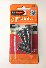 2 Packs of 4:  EZ Ancor Self Drilling Drywall Anchors (29503) 8 total anchors