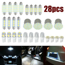 28x Car Interior LED Light Lamp For Dome License Plate Lamp Auto Accessories Kit