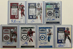 2019 2020 PANINI CONTENDERS RC ROOKIE TICKET PLAYOFF AUTO 7 CARD LOT CRACKED ICE