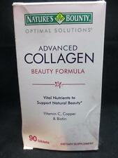 Nature's Bounty Optimal Solutions Advanced Collagen Beauty Formula 90 Tabs 1/18