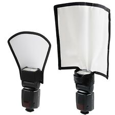 Flash Diffuser Reflector Kit - Bend Bounce Positionable Diffuser + Silver/Whi...