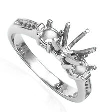 14k Solid White Gold Engagement Ring setting Mount size 3 to 9.5 #R1886