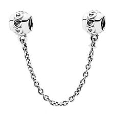 ETERNAL HEARTS Safety Chain Pandora Charm Silver genuine S925 ALE 791088 RRP £35