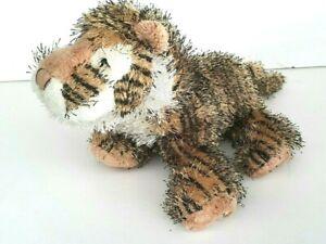 Ganz Hairy Striped Orange Tiger Soft Plush Stuffed Animal Doll Toy Pre Loved