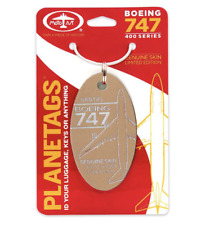 Qantas Airways Boeing 747-400 *ULTRA Rare Gold* Genuine Aluminum Plane Skin Tag