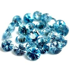 NATURAL PRETTY BLUE NATURAL ZIRCON LOOSE GEMSTONES (PAIR ) ROUND SHAPE (4 mm)