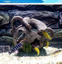 Artificial Fish Tank Decoration Cave Barrel Resin Ornament Landscaping Deco A078