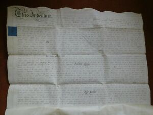 ANTIQUE INDENTURE DATED 1818 RELATING TO PROPERTY IN GRAINTHORPE LINCOLNSHIRE