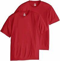 Hanes Men's Short Sleeve Cool DRI T-Shirt UPF 50-,, Deep Red, Size XX-Large twb7