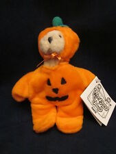 GANZ Wee Bear Village PUMPKINHEAD PH2994 Pumpkin Costume Teddy Bear NEW with TAG