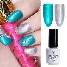 2pcs Shimmer Silver + Blue Glitter Gel Nail Polish UV LED Varnish One-step 5ml