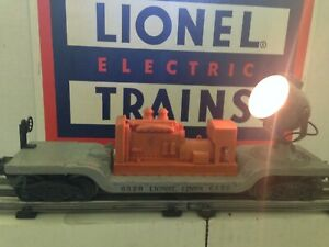 Lionel 6520 Postwar Gray Depressed Operating Searchlight Car w/ Orange Generator