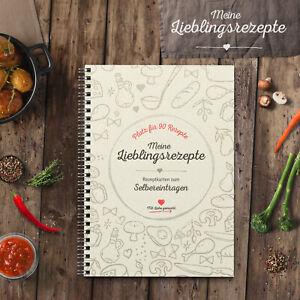 DIY Rezeptbuch zum Selberschreiben mit Platz für 90 Rezepte, Format DIN A4