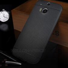 HTC One M8 Case [+3pcs Screen Films]Ultra Matte Dot Back Soft Protective Cover