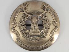 More details for rare victorian gordon highlanders sterling silver officers plaid badge 135g gf88