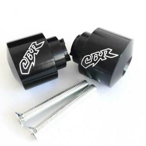 Black CNC Hand Bar Ends Weight Cover Billet For Honda Super Blackbird CBR1100XX