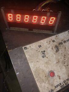 Bally Or Stern 6 Digit Pinball Machine Display, 100 Percent Working