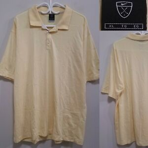 Nike Dri-Fit S/S Polo Shirt Size XL Light Yellow 1/2 Button