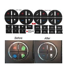 1x AC Dash Button Sticker Repair For GM Tahoe Suburban Avalanche Silverado Yukon